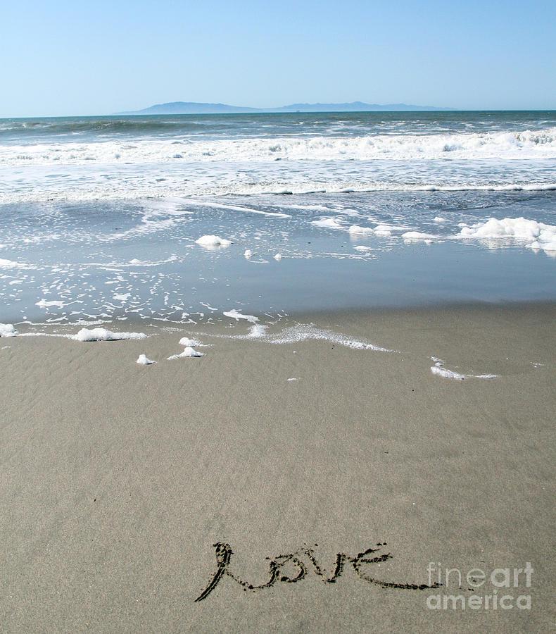 Ocean Photograph - Beach Love by Linda Woods