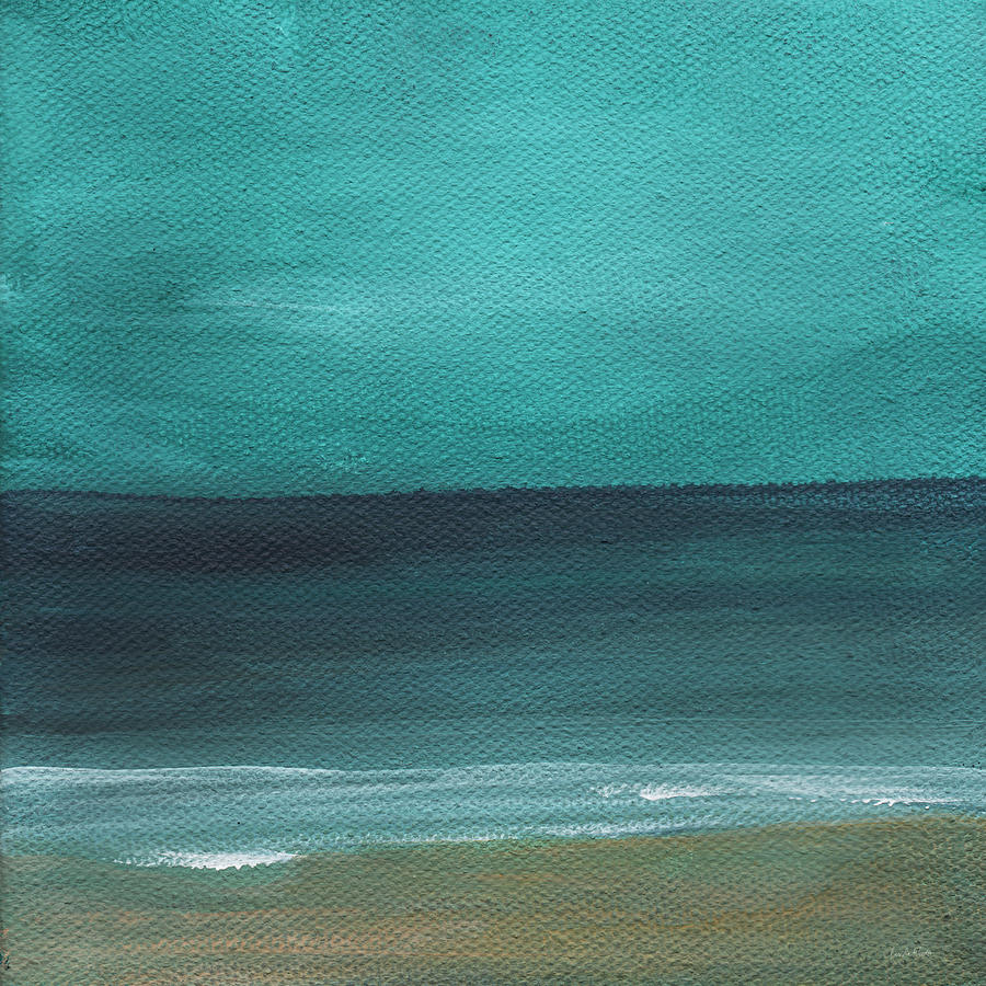Beach Painting - Beach Morning- abstract landscape by Linda Woods