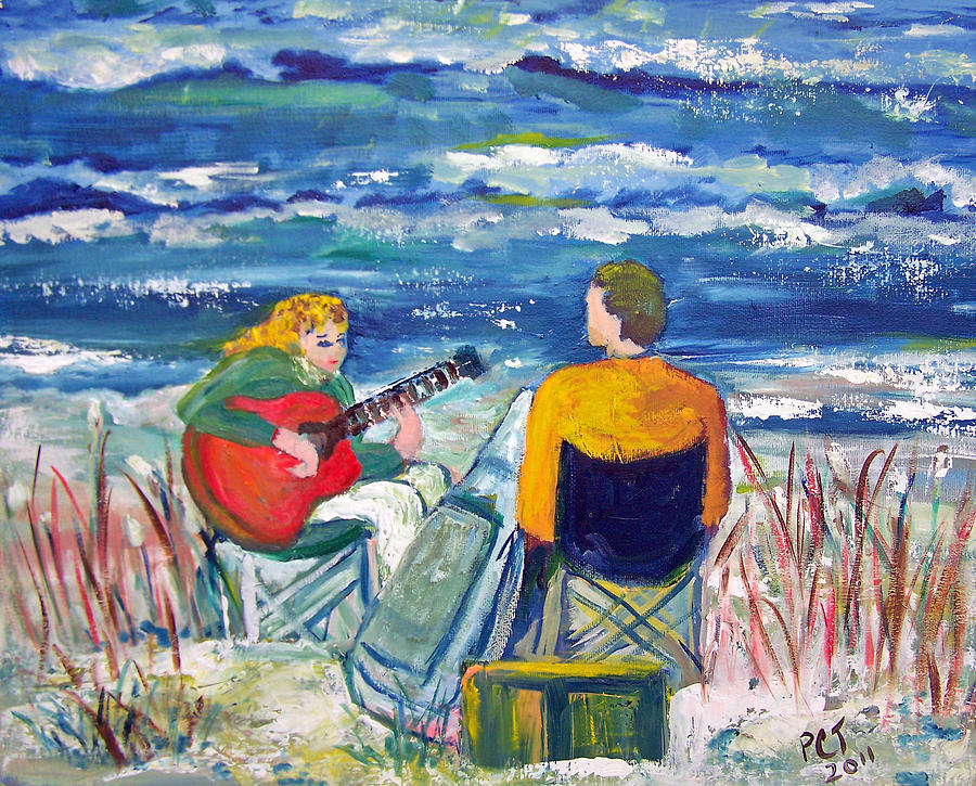 Beach Painting - Beach Music by Patricia Taylor