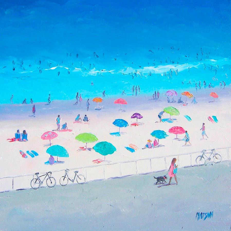 Beach Painting - Beach Painting - Happy Days by Jan Matson