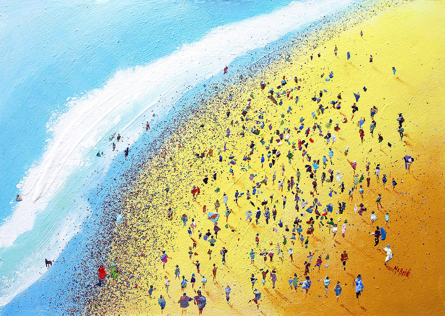 Beach Painting - Beach Party by Neil McBride