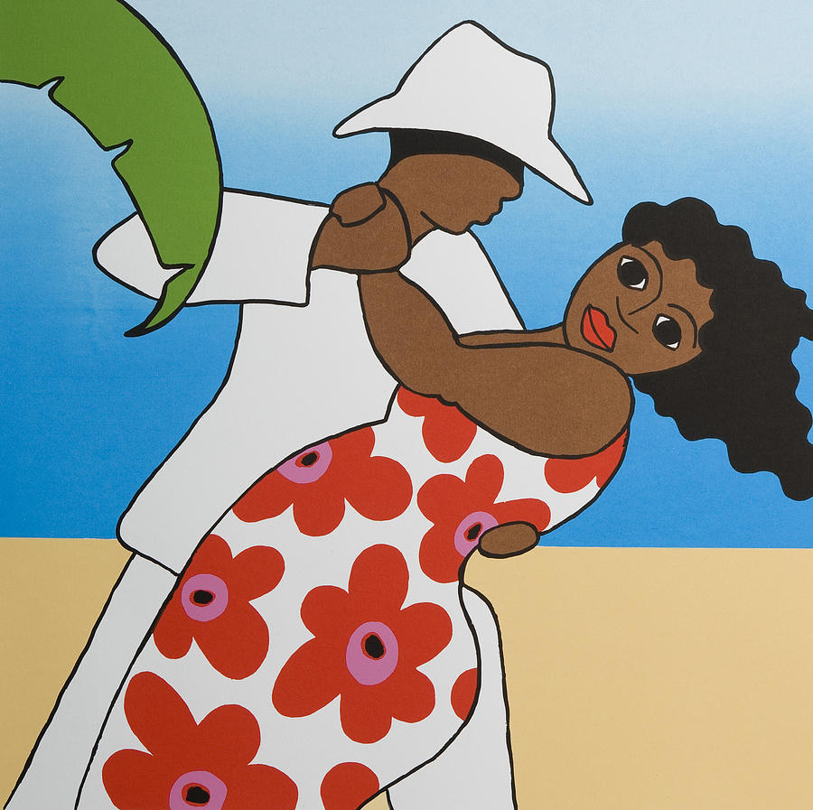 Dancing Mixed Media - Beach Party by Trudie Canwood
