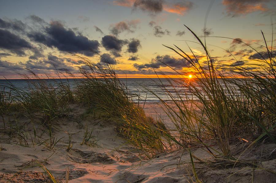 Beach Path Sunset Photograph By Scott Gordon