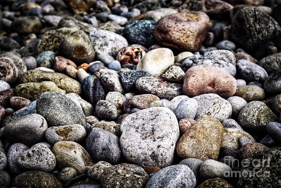 Rock Photograph - Beach Pebbles  by Elena Elisseeva