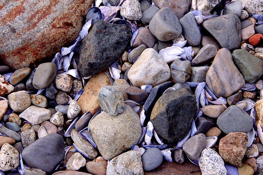 Beach Photograph - Beach pebbles by Peggy Berger