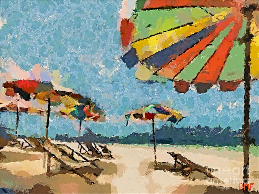 Landscapes Painting - Beach Rainbows by Dragica  Micki Fortuna