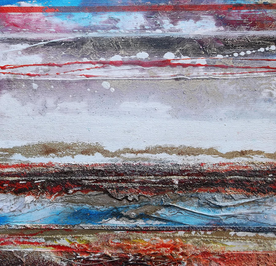 Beach Mixed Media - Beach Rhythms And Textures IIi by Mike   Bell