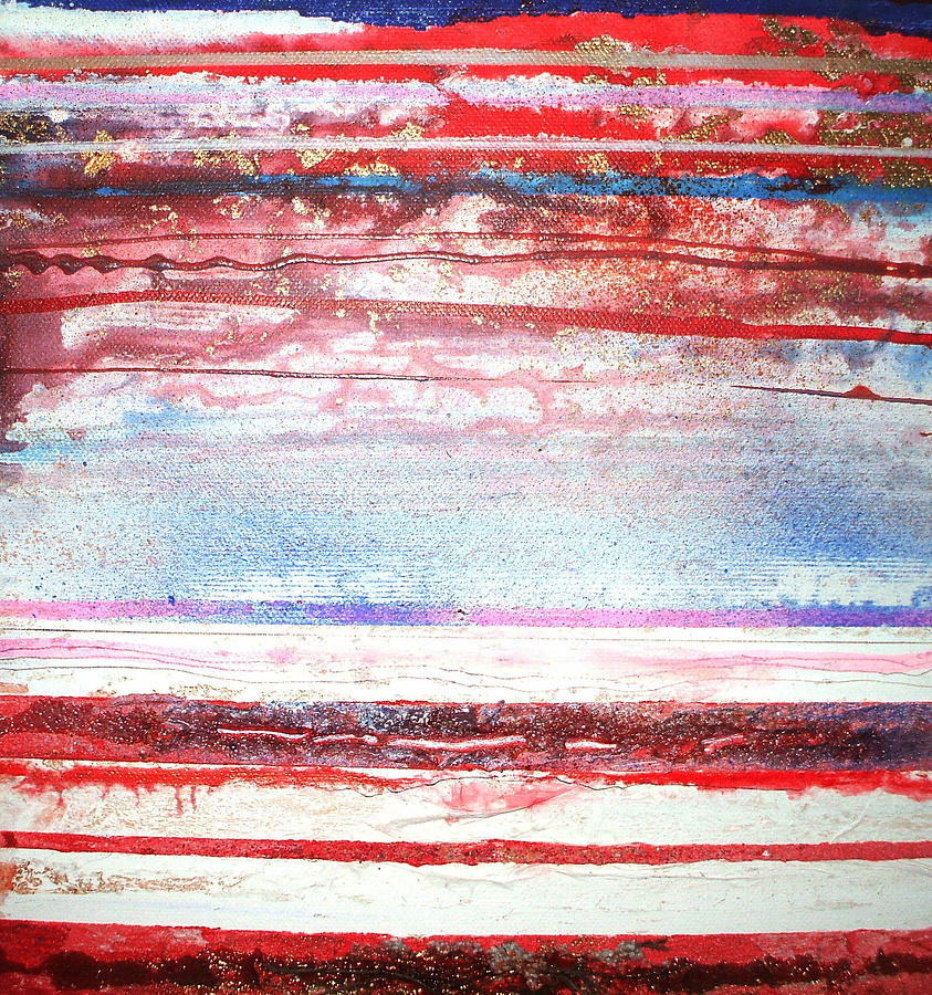 Beach Mixed Media - Beach Rhythms And Textures No13 by Mike   Bell