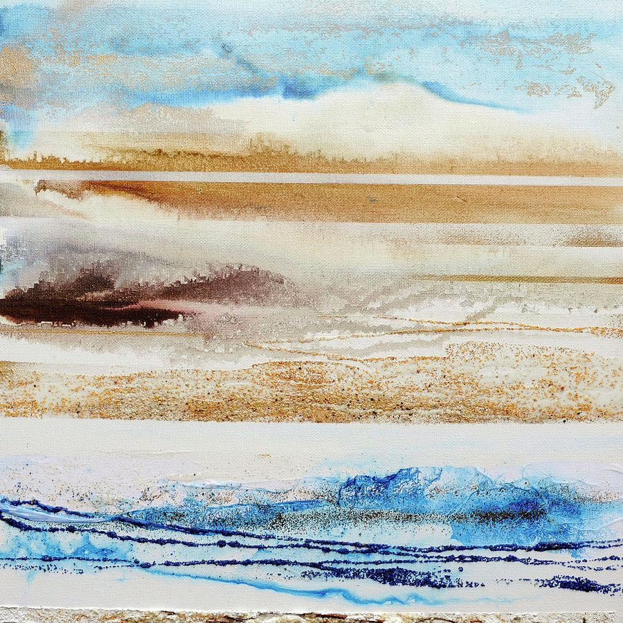 Beach Mixed Media - Beach Rhythms And Textures No1a by Mike   Bell