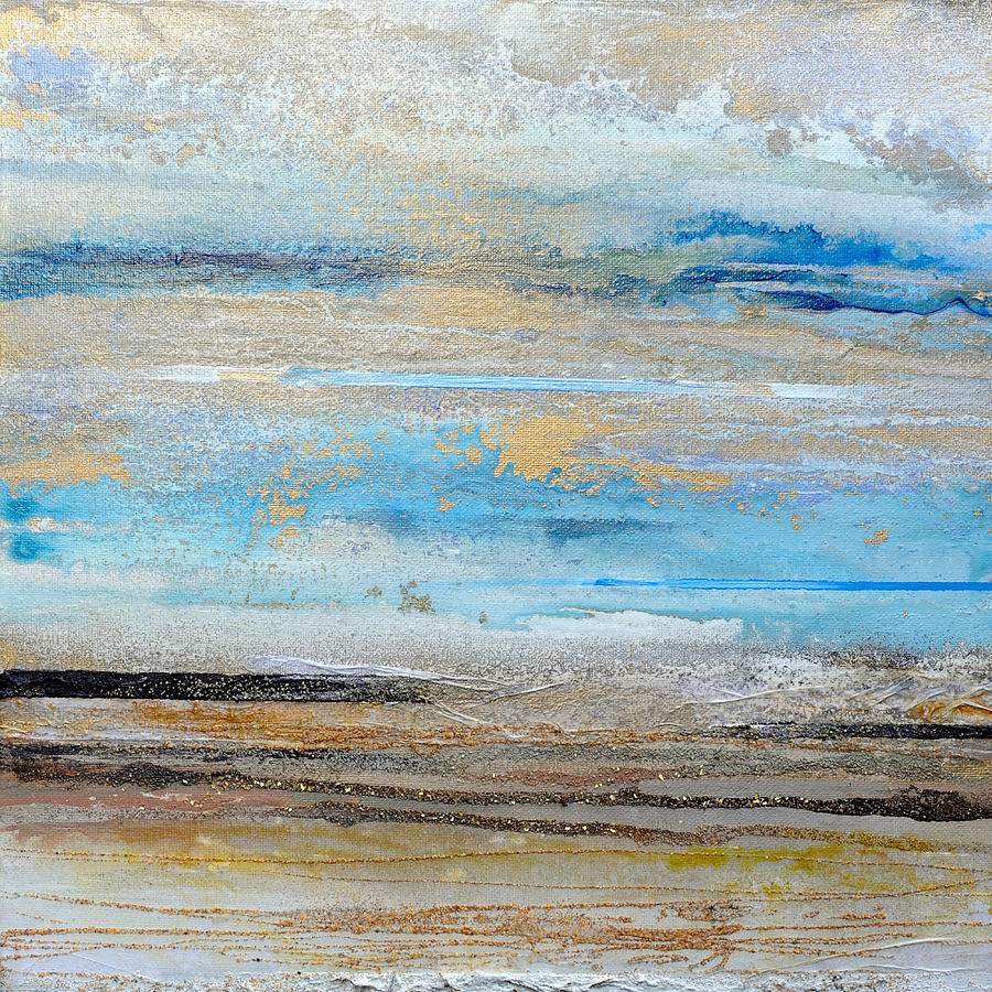 Abstract Mixed Media - Beach Rhythms And  Textures Northumberland 1a by Mike   Bell