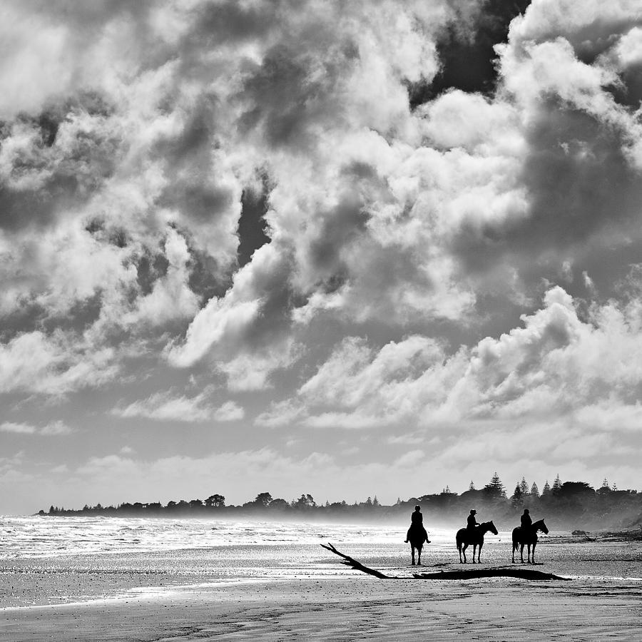 Ride Photograph - Beach Riders by Dave Bowman