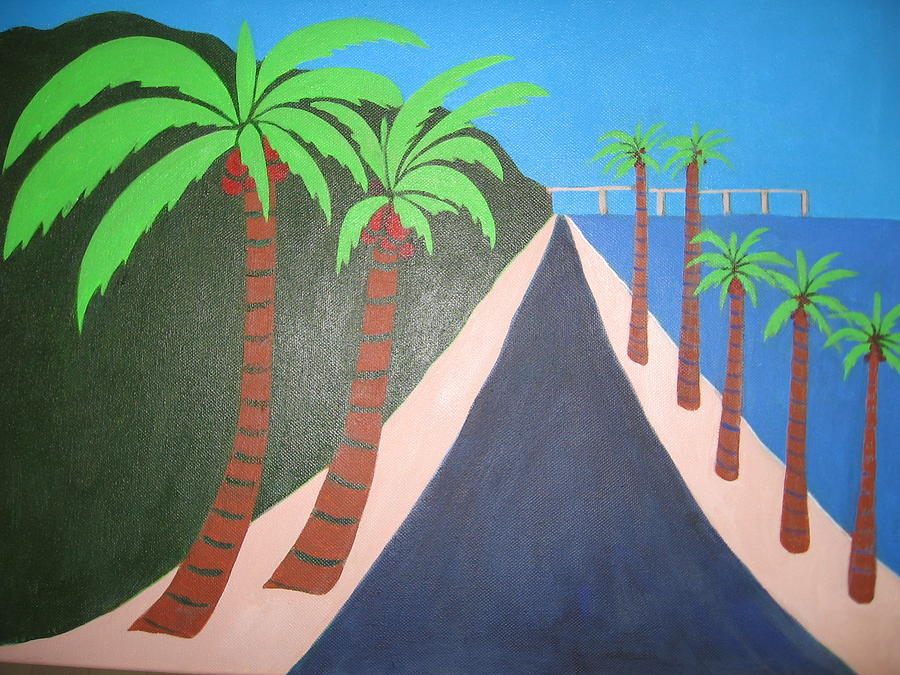 Palms Painting - Beach Road by Sandra McHugh