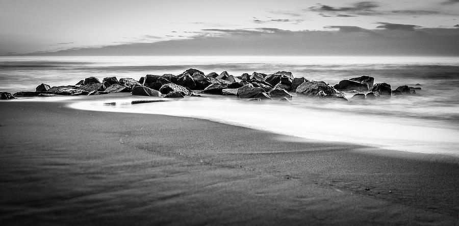 Beach Rocks Sky Photograph by Steve Stanger