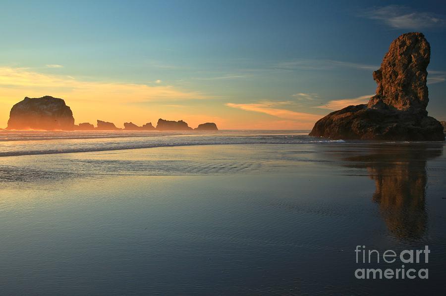 Bandon Beach Photograph - Beach Rudder by Adam Jewell