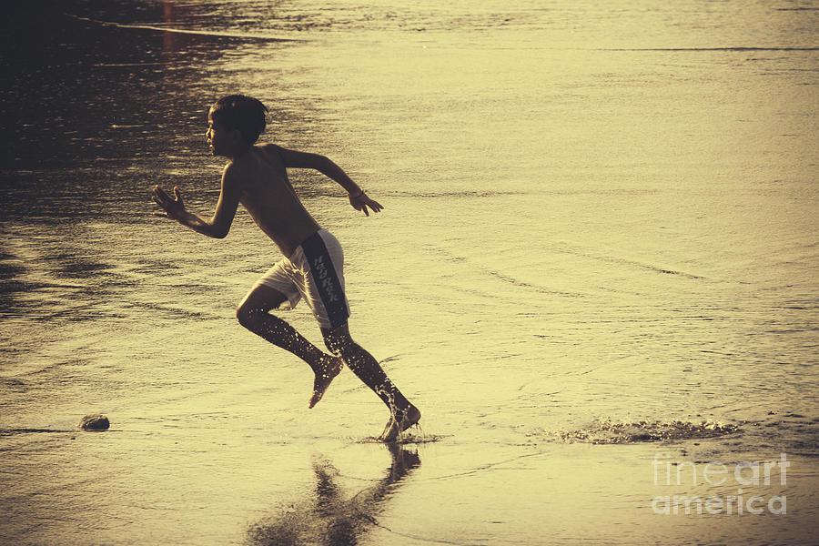 Asia Photograph - Beach Runner by Soren Egeberg