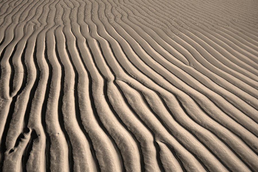 Sand Photograph - Beach Sand Ripples by Brooke T Ryan
