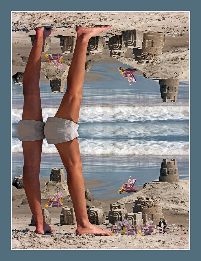 Beach Digital Art - Beach Scene by Betsy Knapp