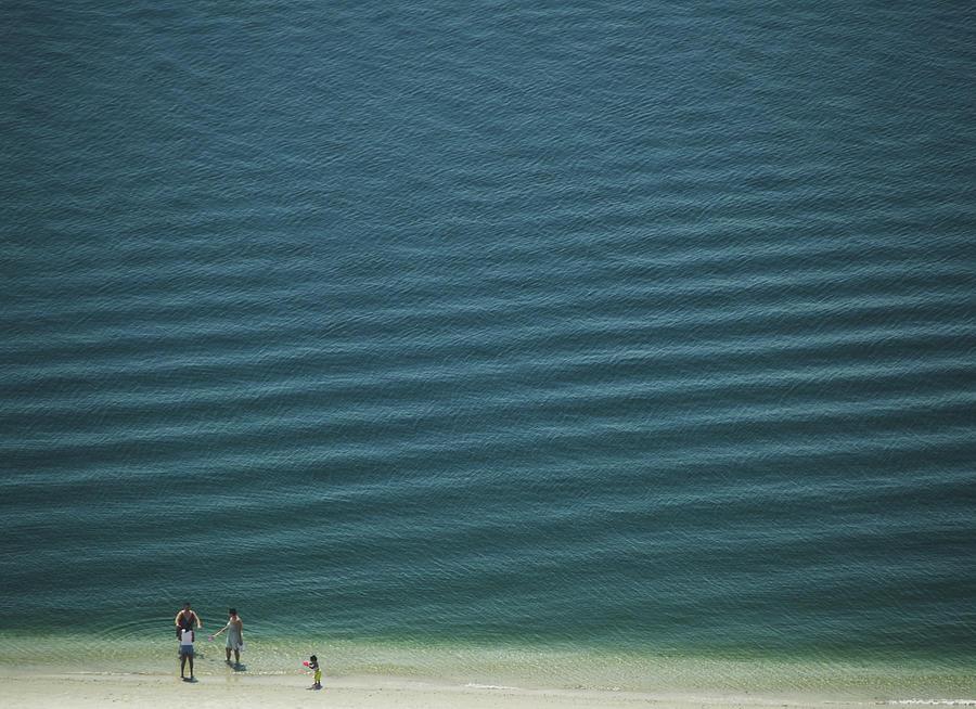 Digital Photograph - Beach Scene - Four People On Beach by Andy Mars
