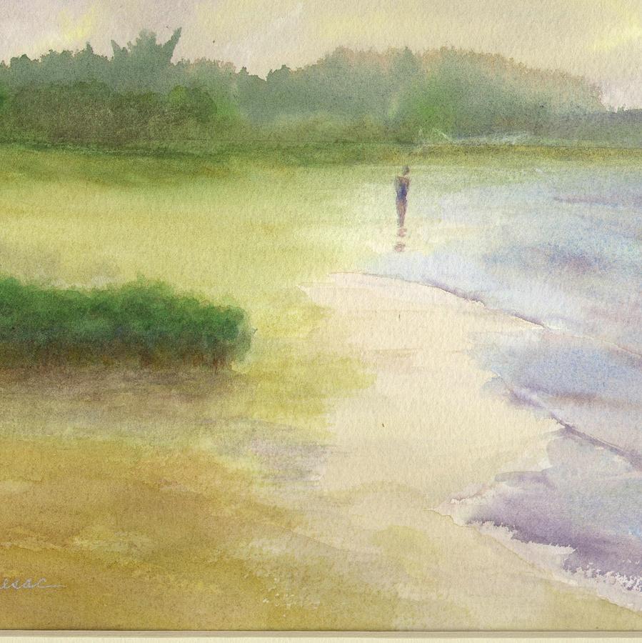 Beach Solitude by Peter Senesac