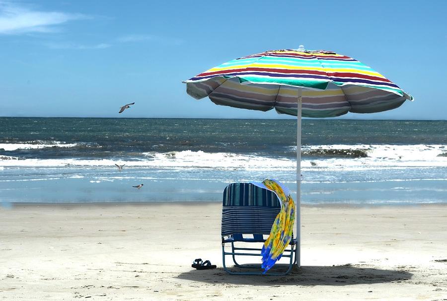 Beach Photograph - Beach Solitude by Sandi OReilly