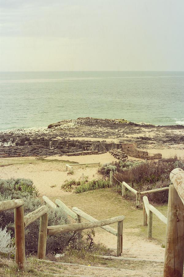 Bunbury Photograph - Beach Steps by Elaine Teague