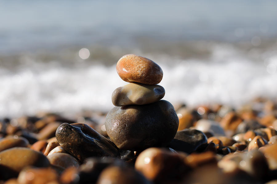 Beach Pebbles Photograph - Beach Stones by Ivelin Donchev
