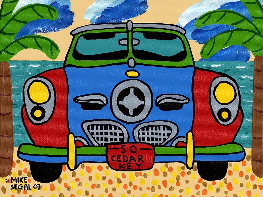 Studebaker Painting - Beach Studebaker by Mike Segal