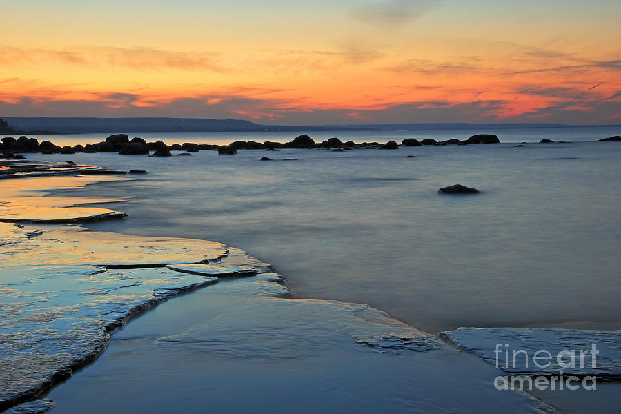 Sunset Photograph - Beach Sunset by Charline Xia