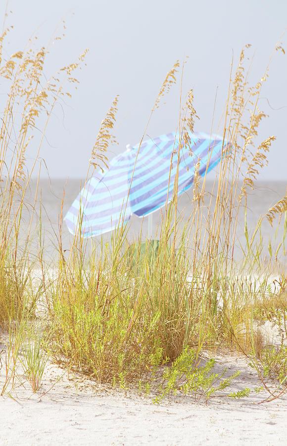 Umbrella Photograph - Beach Time by Kim Hojnacki