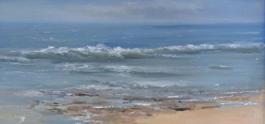 Ocean Painting - Beach Time by Mar Evers