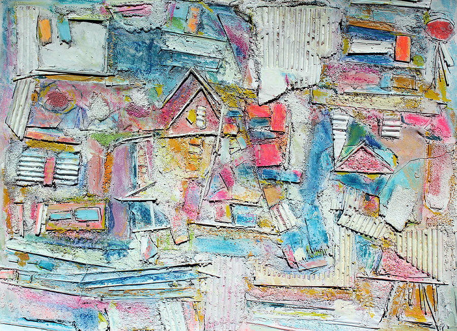 Abstract Painting Painting - Beach Town by Hari Thomas