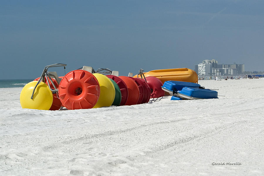 Bikes Photograph - Beach Toys by Gerald Marella