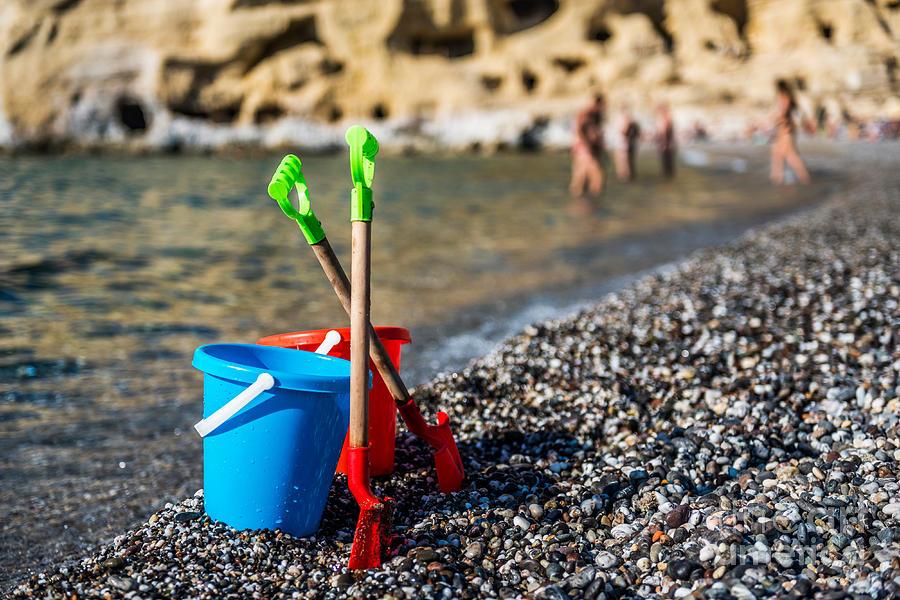 Beach Photograph - Beach Toys by Luis Alvarenga