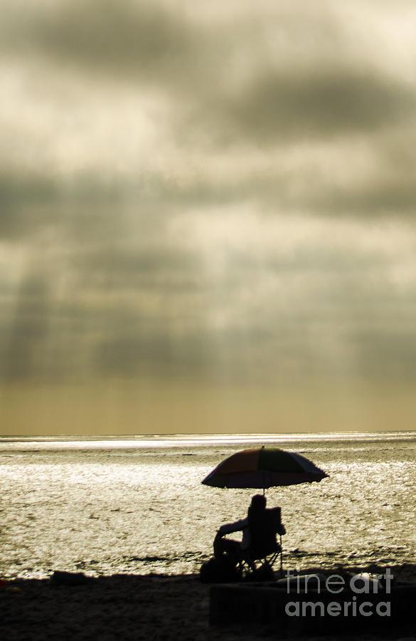 Beach Photograph - Beach Umbrella by Deborah Smolinske