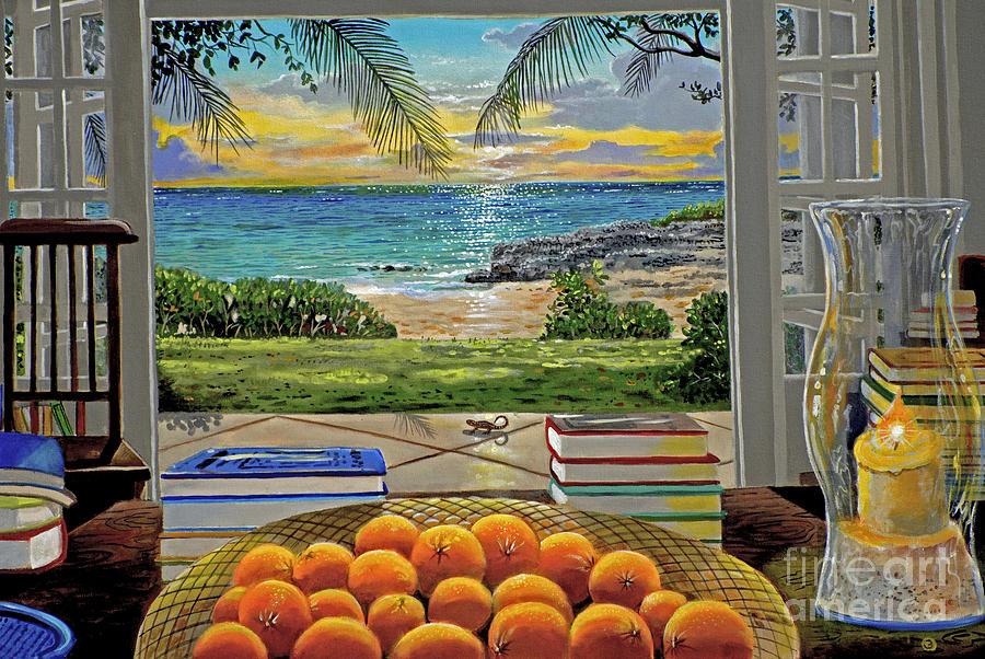 Beach Painting - Beach View by Carey Chen