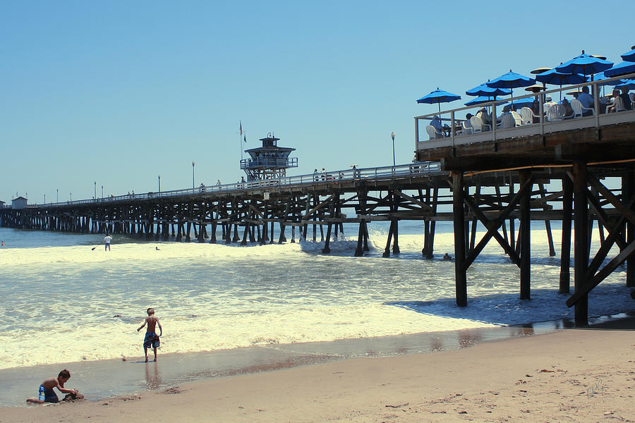 Childhood Photograph - Beach View With Pier 1 by Ben and Raisa Gertsberg