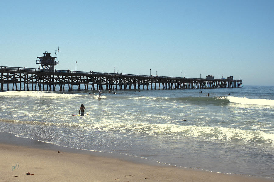 Orange County Photograph - Beach View With Pier 2 by Ben and Raisa Gertsberg