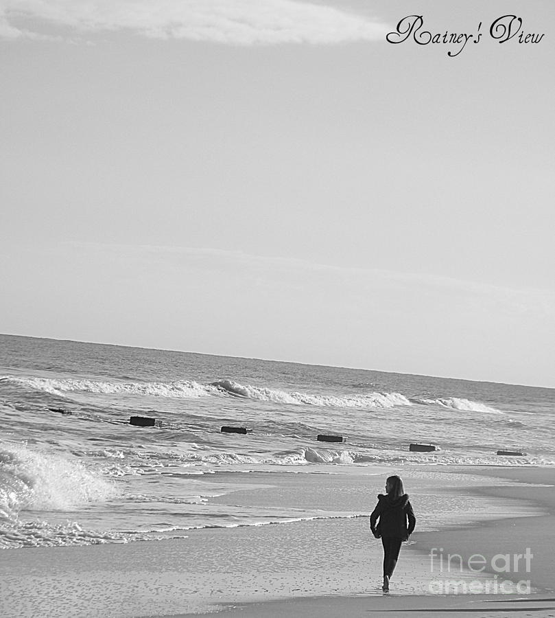 Seascape Photograph - Beach Walk by Lorraine Heath