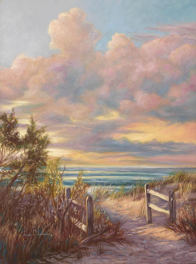 Beach Painting - Beach Walk by Lucie Bilodeau
