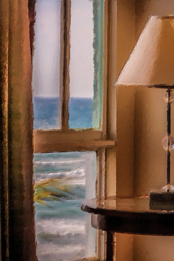 Interior Photograph - Beach Window by Andrea  OConnell