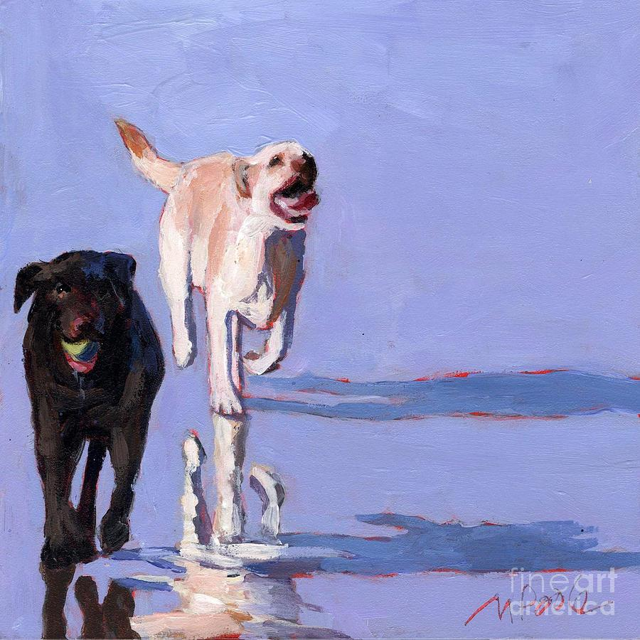Dogs Painting - Beachball by Molly Poole