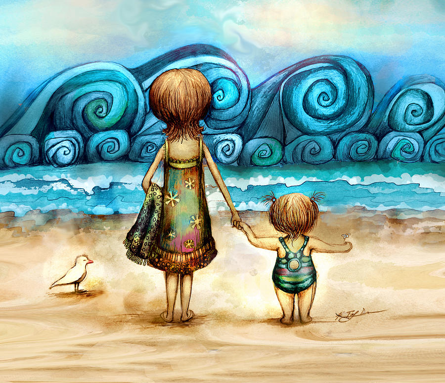 Beachcombers Digital Art - Beachcombers by Karin Taylor
