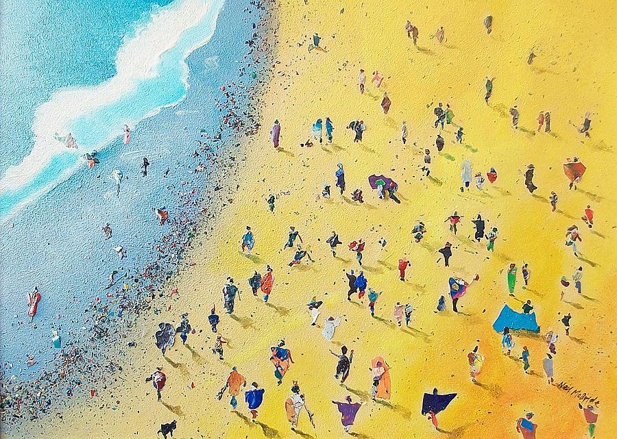 Beach Painting - Beachcombing by Neil McBride