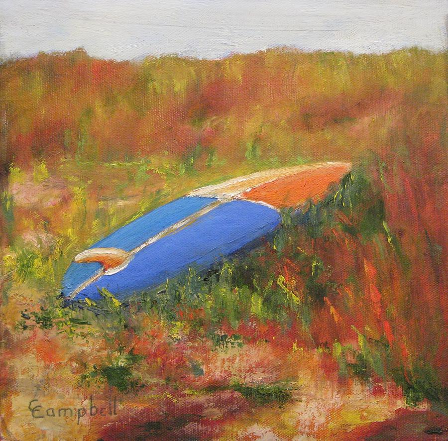 Beach Painting - Beached Board by Cecelia Campbell