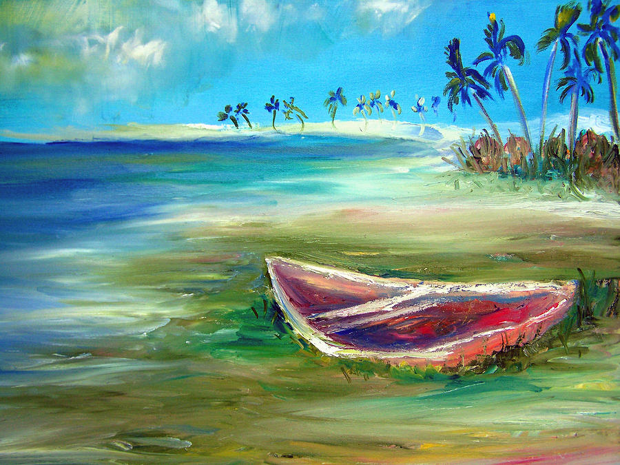 Rowboat Painting - Beached by Patricia Taylor