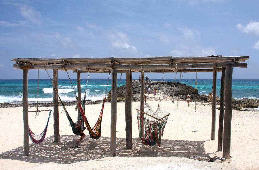 mexico photograph   beachside hammocks cozumel mexico by lee vanderwalker beachside hammocks cozumel mexico photograph by lee vanderwalker  rh   fineartamerica