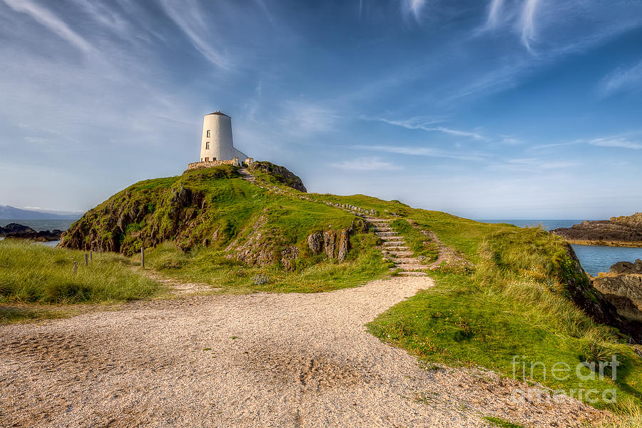 Anglesey Photograph - Beacon At Llanddwyn by Adrian Evans