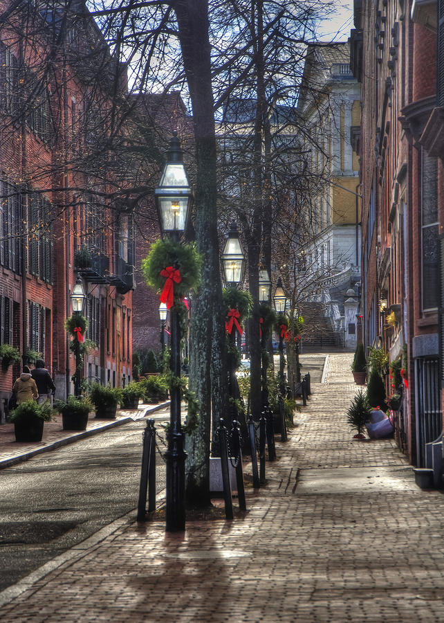 Christmas In Boston Massachusetts.Beacon Hill Christmas Card 2