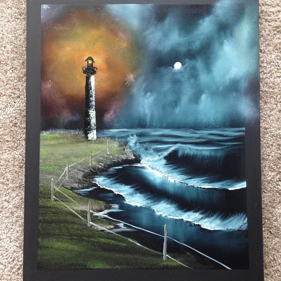 Oil Painting Painting - Beacon Of Light by Jesse Loucks
