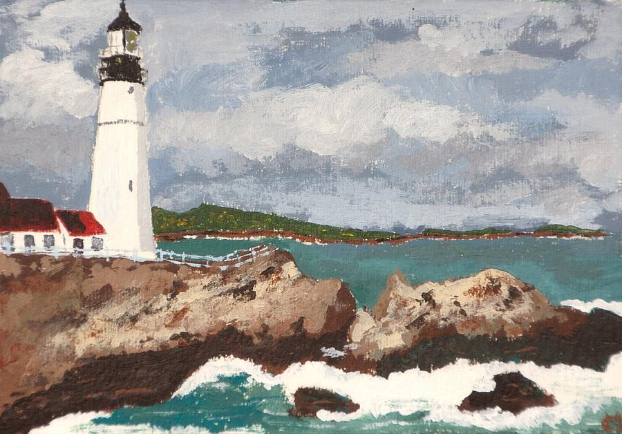 Lighthouse Painting - Beacon Of Love by Cynthia Morgan
